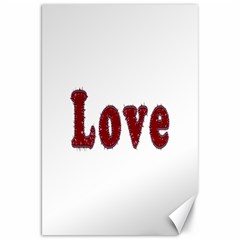 Love Typography Text Word Canvas 20  X 30  (unframed)