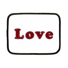 Love Typography Text Word Netbook Sleeve (small)