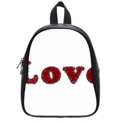 Love Typography Text Word School Bag (small)