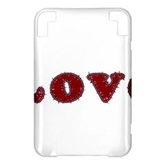 Love Typography Text Word Kindle 3 Keyboard 3G Hardshell Case