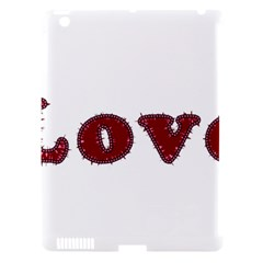 Love Typography Text Word Apple Ipad 3/4 Hardshell Case (compatible With Smart Cover)