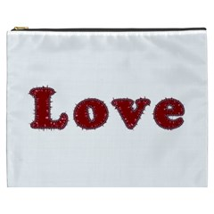 Love Typography Text Word Cosmetic Bag (xxxl)