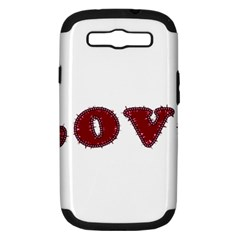 Love Typography Text Word Samsung Galaxy S Iii Hardshell Case (pc+silicone)