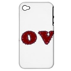 Love Typography Text Word Apple Iphone 4/4s Hardshell Case (pc+silicone)