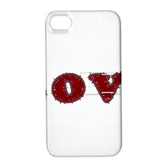 Love Typography Text Word Apple Iphone 4/4s Hardshell Case With Stand