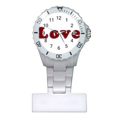Love Typography Text Word Nurses Watch