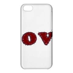 Love Typography Text Word Apple iPhone 5C Hardshell Case