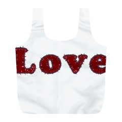 Love Typography Text Word Reusable Bag (l)