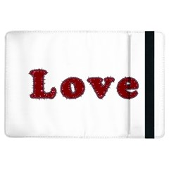 Love Typography Text Word Apple iPad Air Flip Case