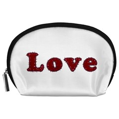 Love Typography Text Word Accessory Pouch (Large)