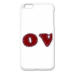 Love Typography Text Word Apple Iphone 6 Plus Enamel White Case