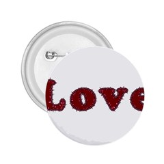 Love Typography Text Word 2 25  Button