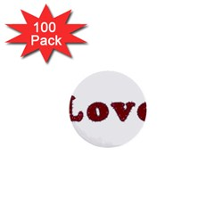 Love Typography Text Word 1  Mini Button (100 Pack)