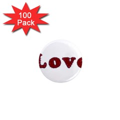 Love Typography Text Word 1  Mini Button Magnet (100 Pack)
