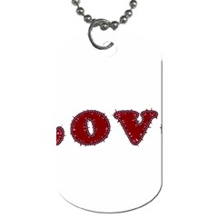 Love Typography Text Word Dog Tag (one Sided)