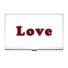 Love Typography Text Word Business Card Holder