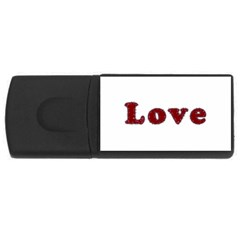 Love Typography Text Word 4gb Usb Flash Drive (rectangle)