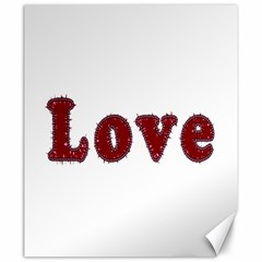 Love Typography Text Word Canvas 20  x 24  (Unframed)