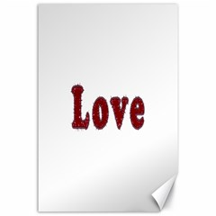 Love Typography Text Word Canvas 24  X 36  (unframed)