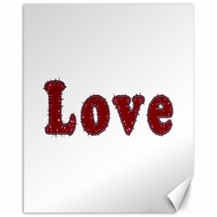 Love Typography Text Word Canvas 11  X 14  (unframed)