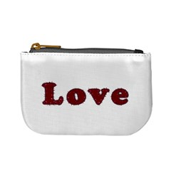 Love Typography Text Word Coin Change Purse