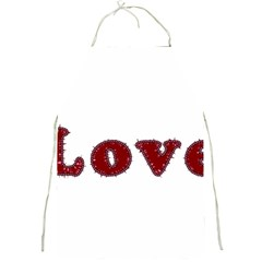 Love Typography Text Word Apron