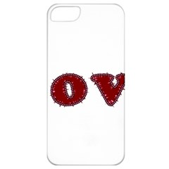 Love Typography Text Word Apple Iphone 5 Classic Hardshell Case