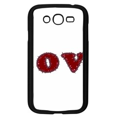 Love Typography Text Word Samsung Galaxy Grand DUOS I9082 Case (Black)