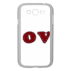 Love Typography Text Word Samsung Galaxy Grand Duos I9082 Case (white)