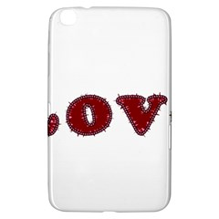 Love Typography Text Word Samsung Galaxy Tab 3 (8 ) T3100 Hardshell Case