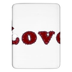 Love Typography Text Word Samsung Galaxy Tab 3 (10 1 ) P5200 Hardshell Case