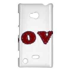 Love Typography Text Word Nokia Lumia 720 Hardshell Case