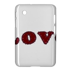 Love Typography Text Word Samsung Galaxy Tab 2 (7 ) P3100 Hardshell Case