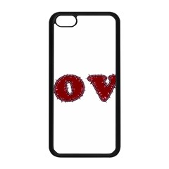 Love Typography Text Word Apple Iphone 5c Seamless Case (black)