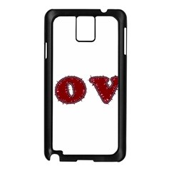 Love Typography Text Word Samsung Galaxy Note 3 N9005 Case (Black)