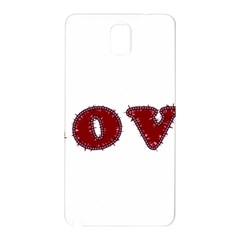 Love Typography Text Word Samsung Galaxy Note 3 N9005 Hardshell Back Case