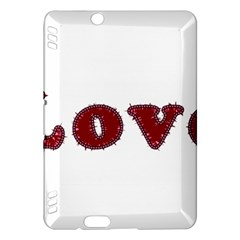 Love Typography Text Word Kindle Fire Hdx Hardshell Case