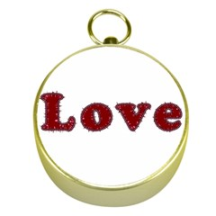 Love Typography Text Word Gold Compass