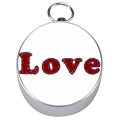 Love Typography Text Word Silver Compass