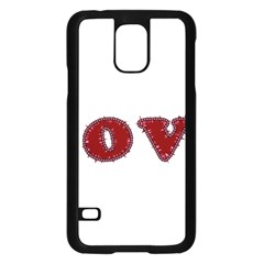 Love Typography Text Word Samsung Galaxy S5 Case (black)