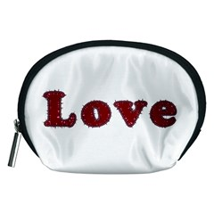 Love Typography Text Word Accessory Pouch (Medium)