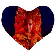 Organic Meditation 19  Premium Heart Shape Cushion