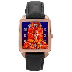 Organic Meditation Rose Gold Leather Watch