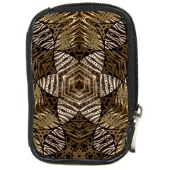 Golden Animal Print Pattern  Compact Camera Leather Case