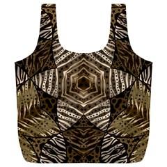 Golden Animal Print  Reusable Bag (XL)