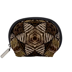 Golden Animal Print Pattern  Accessory Pouch (Small)