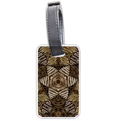 Golden Animal Print  Luggage Tag (two Sides)