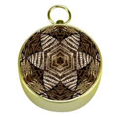 Golden Animal Print  Gold Compass