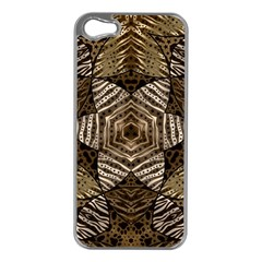 Golden Animal Print  Apple Iphone 5 Case (silver)