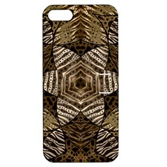 Golden Animal Print  Apple Iphone 5 Hardshell Case With Stand